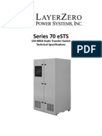 LayerZero Series 70 eSTS Static Transfer Switch Technical Specifications