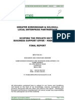 Item 3 - FINAL REPORT Scoping the Private Sector Offer for Business Support
