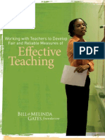 Met Project [Bill and Melinda Gates Foundation] 2010_working With Teachers to Develop Fair and Reliable Measure Od Effective Teaching