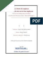 Les droits des employés et leurs devoirs envers leur employeur