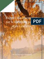 Rappel Aux Insouciants Sur Le Droit Des Parents Et Des Enfants