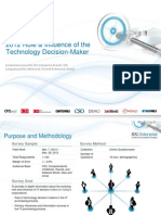 IDG Enterprise Role & Influence of the Technology Decision-Maker 2012 (Excerpt)