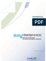 QUALIRESI _référentiel de Certification. CERTIVEA2001