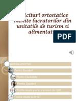 Solicitari Ortostatice Menite Lucratorilor Din Unitatile de Turism