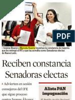09-07-12 Reciben Constancia de Mayoria Como Senadoras