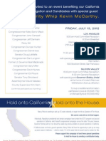 Breakfast, Lunch & Dinner for Golden State Congressional Victory Fund