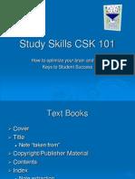 Study Skills CSK 101