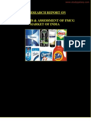 Analysis and Assessment of Fmcg Market of India | Hypothesis