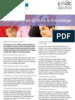 Common Core of Skills & Knowledge