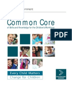 Common Core of Skills and Knowledge for the Childrens Workforce