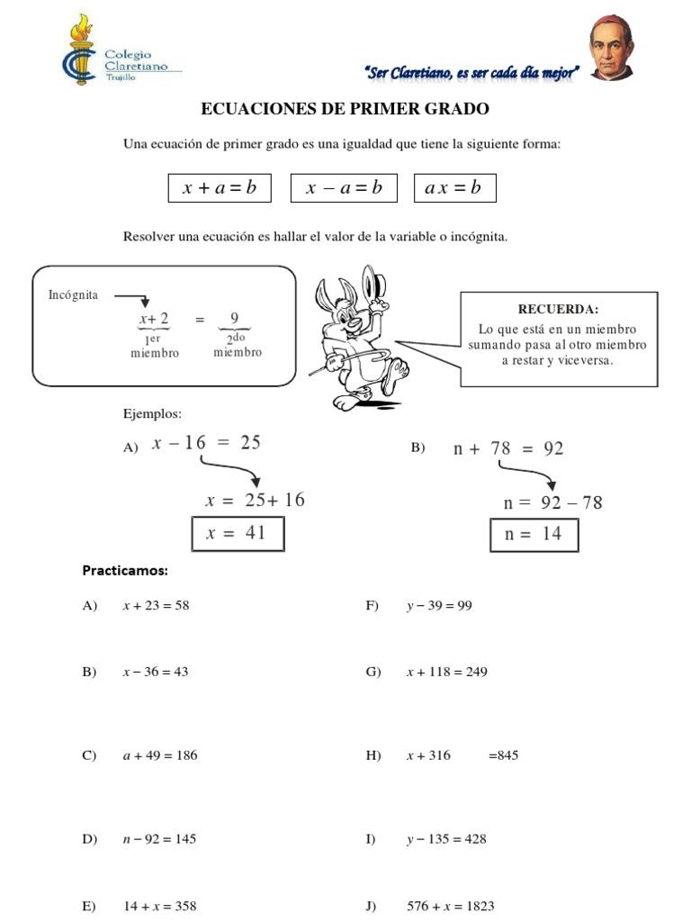 Ecuaciones e inecuaciones for Ecuaciones de cuarto grado