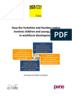 How the Yorkshire and Humber region involves children and young people in workforce development