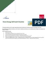 Home Energy Self Audit
