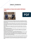 Annan States New Framework Reached With Bashar Assad- Turkey News