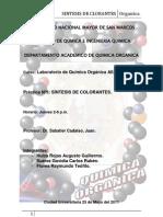 síntesis de colorantes organicos