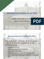 Recomendaciones Seri Sevilla 2011