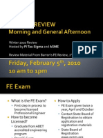 Fe Exam Review 2010