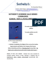 Sotheby'S Summer Sales Series Commands  £268.8 / $431.1/€342.3Million