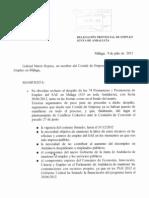 Escrito Comité de Empresa Málaga (9 de julio)