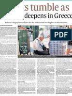 Greece Stocks Tumble 18 May 12