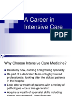 A Career in Intensive Care