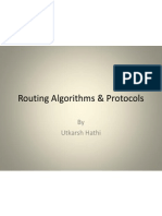 Routing Algorithms & Protocols
