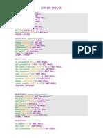 Crear Tablas de Tareas de sistema base de datos modulo de admision  sqls