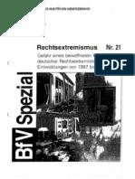 Rechtsex Bewaffneter Kampf BfV Dienstgebrauch