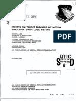 Target and Disturbances in Flight Simulation