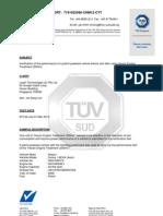 TUV SUD Report