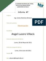 Informe de Electrización