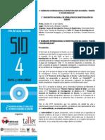 CONVOCATORIA 4 SEMINARIO DE INVESTIGACION EN DISEÑO