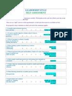 Leadership Style Self Assesment[1]
