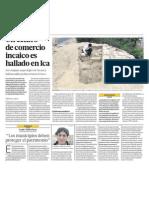 Descubren centro comercio Inca en Ica