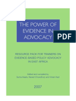 ESRF - Power Of Evidence In Advocacy - 2007