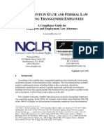 Advancing State and Fed Law Regarding Trans Employees