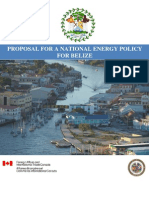 Proposal for a National Energy Policy for Belize, 3-2011