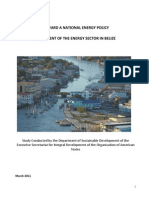 Toward a National Energy Policy - Assessment of the Energy Sector in Belize, 3-2011