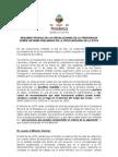 Resumen técnico de las resoluciones de la Presidencia sobre el Informe Preliminar de la Procuraduría de la ética.