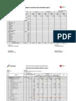 Summary Construction Progress Area II Between Pertamina & Adhi Karya