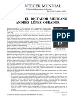 Obituario Del Dictador Que No Fue