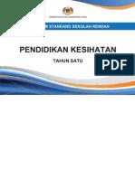 Dokumen Standard Pendidikan Kesihatan Tahun 1