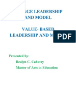 Change Leadership and Model Written Report