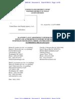 Lance Armstrong v. USADA Federal TRO Memorandum