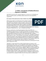 Bio Compatibility Assessment FDA Japanese Guideline