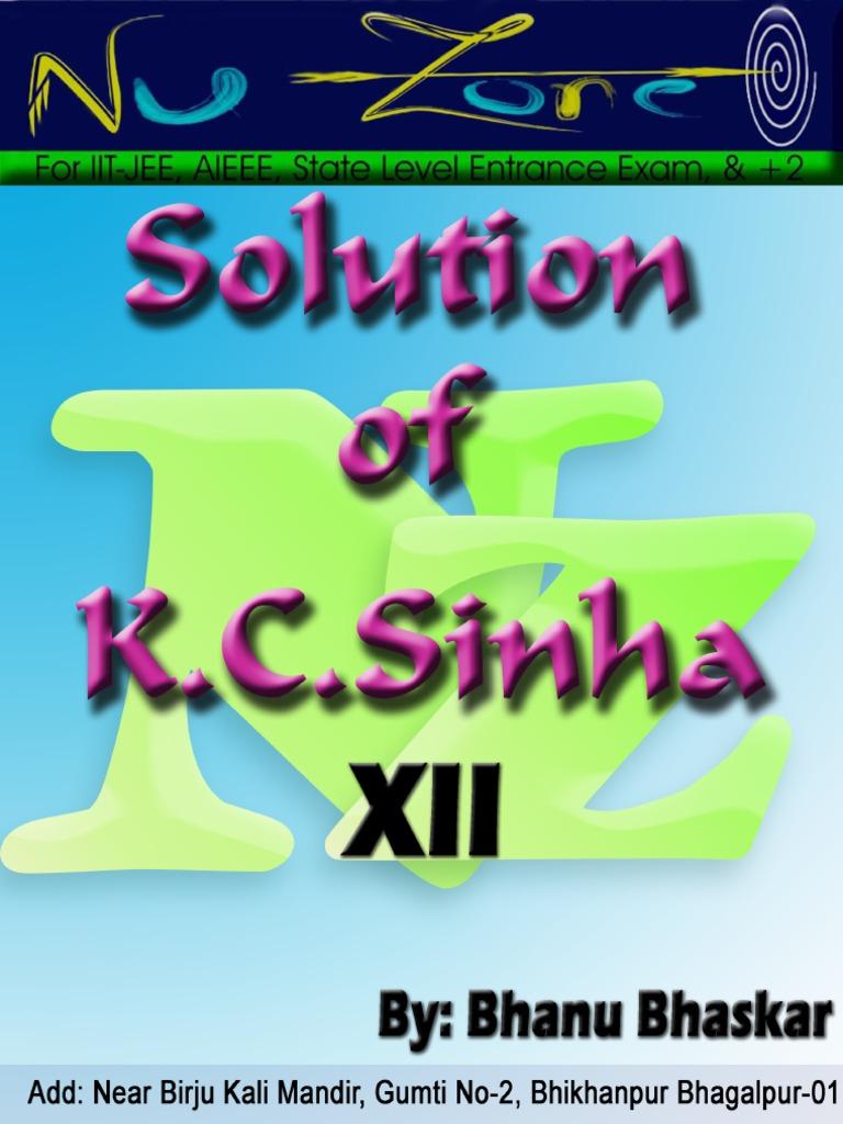k c sinha differentiation solutions