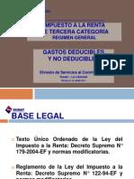 Impuesto a la Renta 3° Categoria - Gastos Deducibles y No Deducibles - Norma 23.02