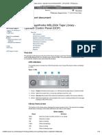HP MSL2024 Tape Library - Operator Control Panel (OCP)