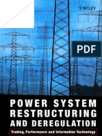 Power System Restructuring and Deregulation Trading, Performance and Information Technology