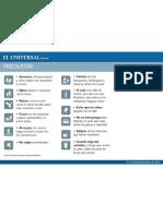 EL PERIODICO EL UNIVERSAL NOS PUBLICA LAS 13 REGLAS BASICAS DE SEGURIDAD VIAL PARA PEATONES